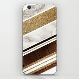 Granite/Wood Gold Pattern iPhone Skin