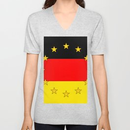 German European Union Flag Unisex V-Neck
