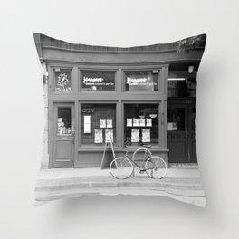 Downtown Eastside streetview Throw Pillow