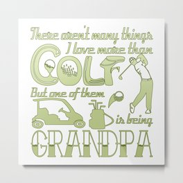 Golf Grandpa Metal Print