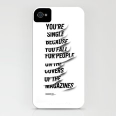 Single iPhone (4, 4s) Slim Case