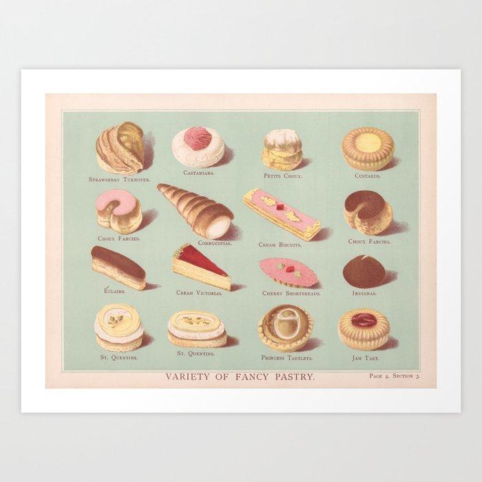 Fancy Pastries Art Print