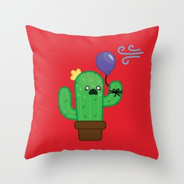 Cactus - Panicked Throw Pillow