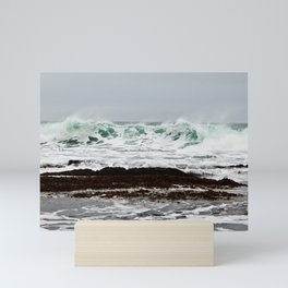 Green Wave Breaking Mini Art Print