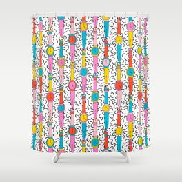 Happenin' - throwback 1980's style art print swatch watch retro vintage hipster dorm decor urban bro Shower Curtain
