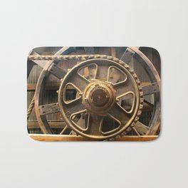 Gears of the Past Bath Mat