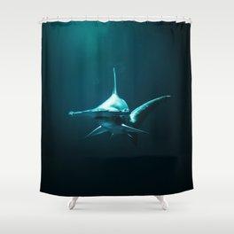 Hammerhead Shark (Color) Shower Curtain