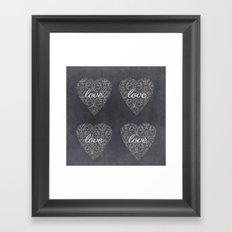 Love Heart Design {Black Version} Framed Art Print