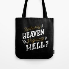 Highway to Heaven? Tote Bag