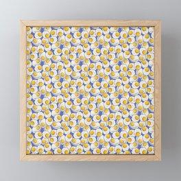 Fried egg feast in Blue Framed Mini Art Print