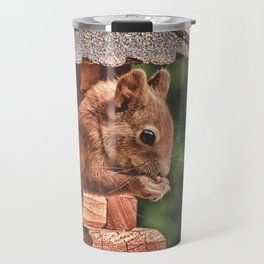 Foraging Squirrel in Little House Travel Mug