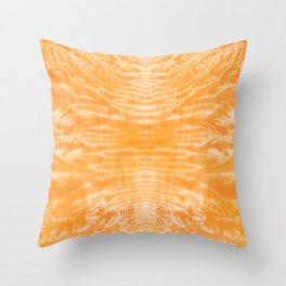 underwater fire, a coral dream of tree branches in orange Throw Pillow