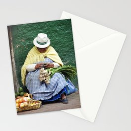 Vegetable and Fruit vendor, Cuenca, Ecuador Stationery Cards