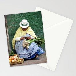 Vegetable and Fruit vendor, Cuenca, Ecuador Stationery Cards