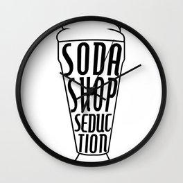 Soda Shop Seduction Wall Clock