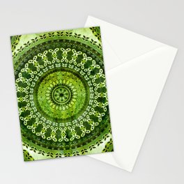 Vintage Lime Mandala Stationery Cards