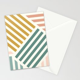 Abstract Summer Lines Stationery Cards