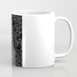 Snaky Fleur, Black and Grey Coffee Mug