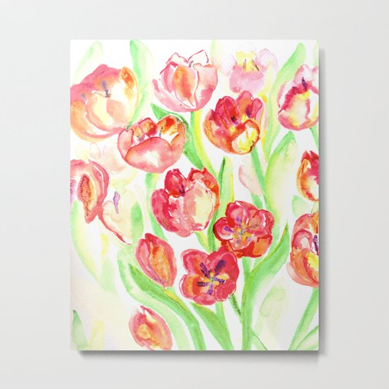 Mothers Day Tulips Metal Print