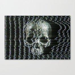 Analogue Glitch Jawless Skull Canvas Print
