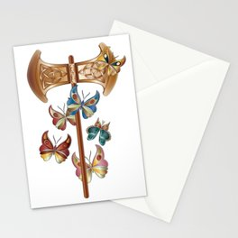 Double Headed Axe Labrys & Butterflies - Transformation Stationery Cards