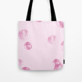 watercolor polka dot-red Tote Bag