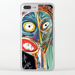 Street art graffiti My life is gone so fast Clear iPhone Case