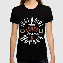 jesus and horses DArk T-shirt