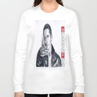 rap Long Sleeve T-shirts featuring Rap God! by DrewzDesignz