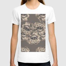 Sepia Peony Flower Bouquet #1 #floral #decor #art #society6 T-shirt
