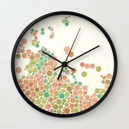 All in dots Wall Clock