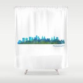 Philadelphia City Skyline Hq V1a Shower Curtain