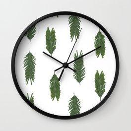 Silver wattle pattern Wall Clock