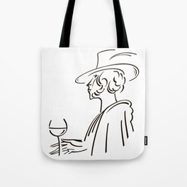 Retro portrait of man Tote Bag