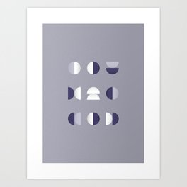 Geometrica - Color Study - 1/7/2019 - Graphic Art Print Art Print