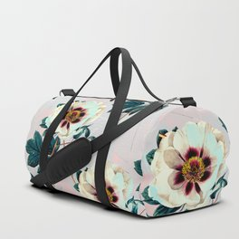 Flowery blooming with geometric Duffle Bag