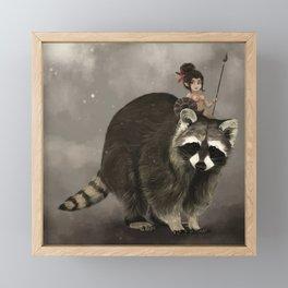 Meeko Warrior Framed Mini Art Print