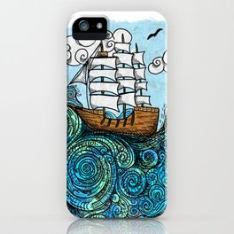 Ship Sailing the Sea iPhone Case