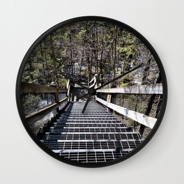 Tahquamenon Stairs Wall Clock