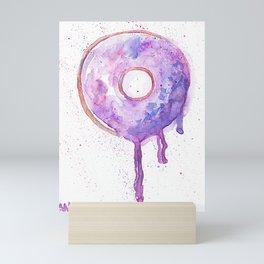 Violet Sweet Doughnut Mini Art Print