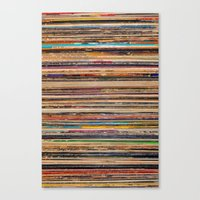 vinyl Canvas Prints featuring Vinyl by elle moss