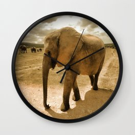 Wildlife big Elephant Wall Clock