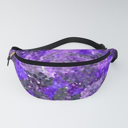 Aftermath of Spring, Abstract Floral Mosaic Art Fanny Pack