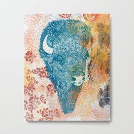 Blue Bison Metal Print