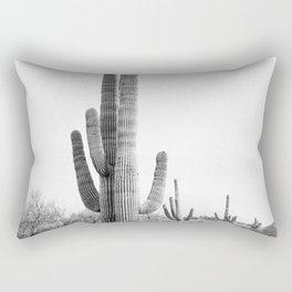 Desert Cactus BW Rectangular Pillow