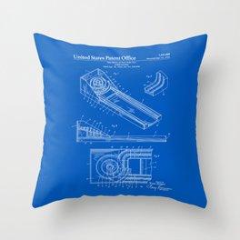 Skee Ball Patent - Blueprint Throw Pillow