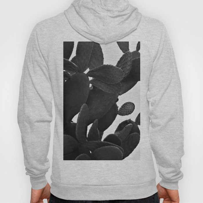 Cactus in Black And White Hoody