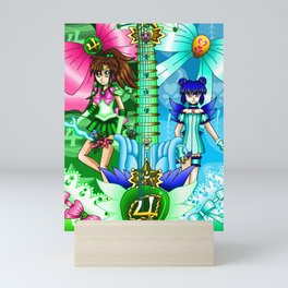 Sailor Mew Guitar #37 - Sailor Jupiter & Mew Minto Mini Art Print