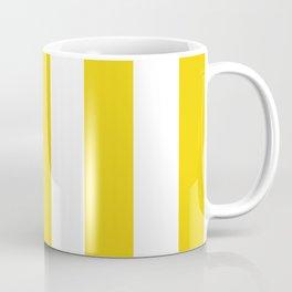 Stripes (Parallel Lines) - Yellow White Coffee Mug