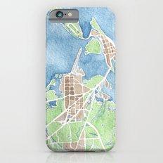Coastal Map of Galveston TX iPhone 6s Slim Case